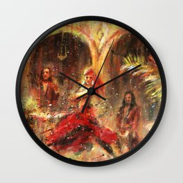 Flamenco. Spanish music and dance Wall Clock