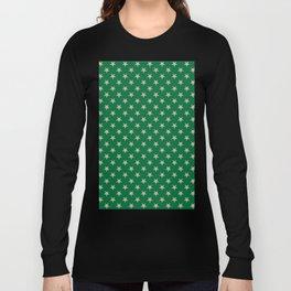 Tan Brown on Cadmium Green Stars Long Sleeve T-shirt