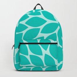 Turquoise Chrysanthemum Backpack