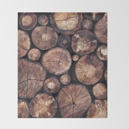 The Wood Holds Many Spirits Throw Blanket