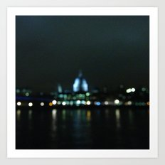 St Pauls in lights Art Print