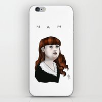 nan lawson iPhone & iPod Skins featuring Nan by Dan Paul Roberts