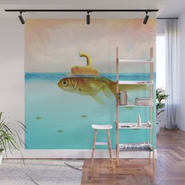 Submarine Goldfish Wall Mural