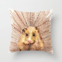 hamster Throw Pillows featuring Hamster by Creative Stace