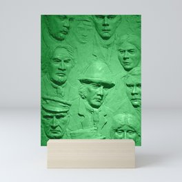 Faces green tint Mini Art Print