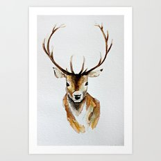 Buck - Watercolor Art Print