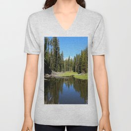 Morning Serenity At The Yellowstone NP Unisex V-Neck