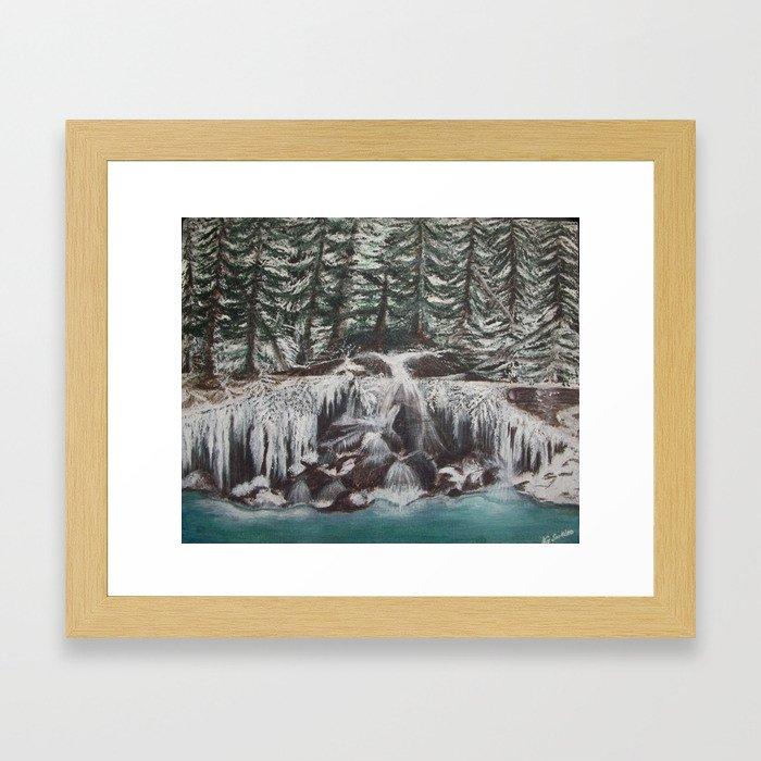 Rocky Waterfall Framed Art Print