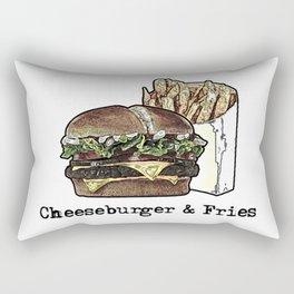 Cheeseburger & Fries Rectangular Pillow