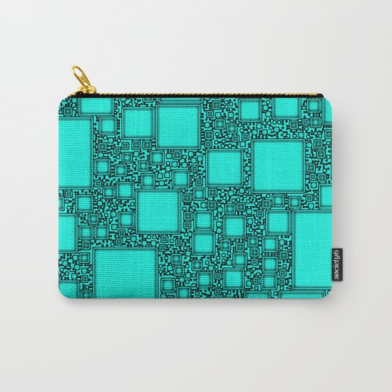 Electronics Blue Carry-All Pouch