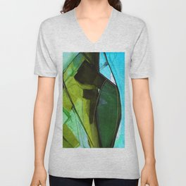 Abstraction 317G by Kathy Morton Stanion Unisex V-Neck