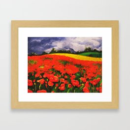 Poppies before the Storm Framed Art Print