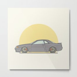 Nissan Skyline R32 Vector Illustration Metal Print