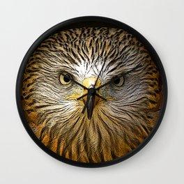 Red Kite Portrait Wall Clock