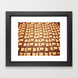 New York City Yellow Taxis Print -  NYC photography Framed Art Print