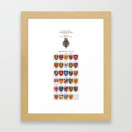 KING RICHARD II - Roll of arms of the Knights of the Garter installed during his reign Framed Art Print