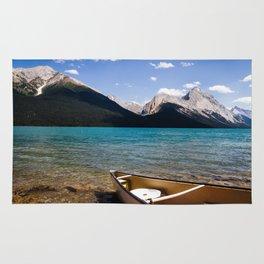 Maligne Lake Beached Canoe Rug