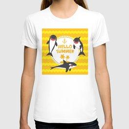Hello Summer, Kawaii orca T-shirt