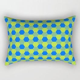 Yellow and blue honeycomb pattern Rectangular Pillow