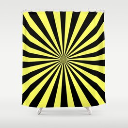 Starburst (Black & Yellow Pattern) Shower Curtain