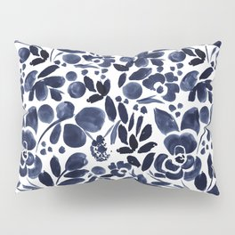 Navy Floral - medium Pillow Sham
