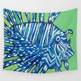 Lion Fish 2, a pretty predator & invasive species Wall Tapestry