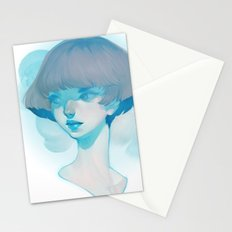visage - blue Stationery Cards