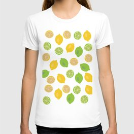 Lemon and Lime Pattern T-shirt
