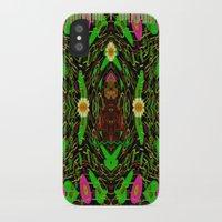 grafitti iPhone & iPod Cases featuring Lady Pandas Jungle grafitti by Pepita Selles
