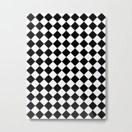 Diamonds - White and Black Metal Print