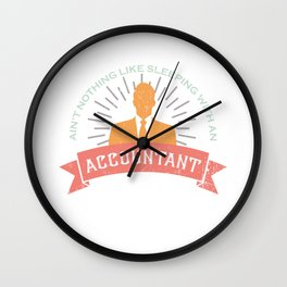 Accountant Graduate Bookkeeper Student Wall Clock