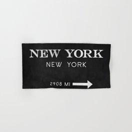black watercolor new york new york Hand & Bath Towel