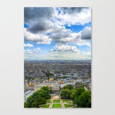 Paris From The Sacre Coure Canvas Print