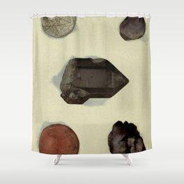Quartz Minerals Shower Curtain