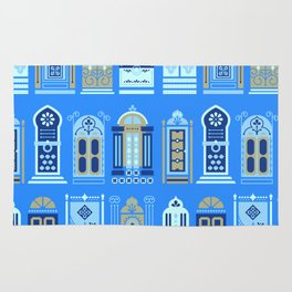 Moroccan Doors – Cornflower Blue Palette Rug