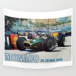 Gran Prix de Monaco, 1968, original vintage poster Wall Tapestry