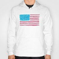 american flag Hoodies featuring American Flag by Caleb Boyles