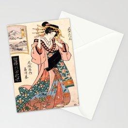 Mariko, geisha of high rank Stationery Cards