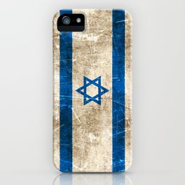 Vintage Aged and Scratched Israeli Flag iPhone Case