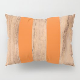 Striped Wood Grain Design - Orange #840 Pillow Sham