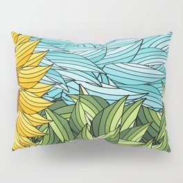 SUNNY DAY (abstract flowers) Pillow Sham