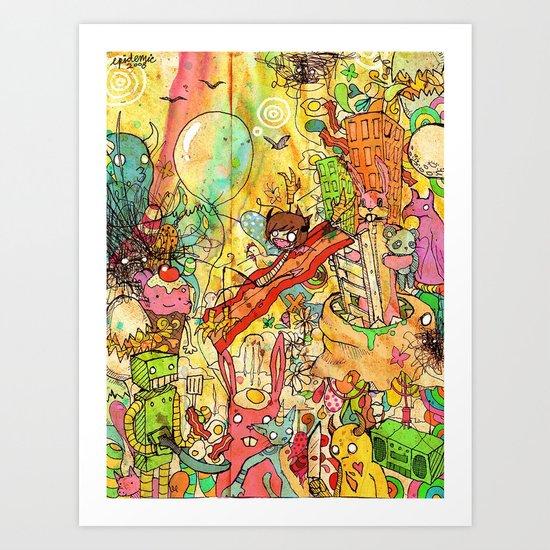 Bacon Bits Art Print