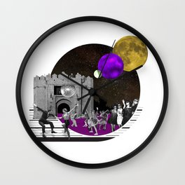 dancing in the moon light Wall Clock