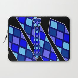 Blue Tie Laptop Sleeve