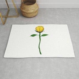 Long Stem Yellow Rose  Rug