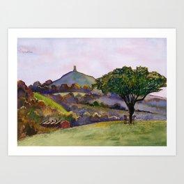 Glastonbury Tor - Somerset, England Art Print