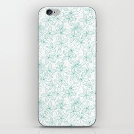 Floral Freeze White iPhone Skin