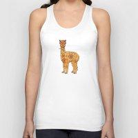 alpaca Tank Tops featuring Alpaca by Peggy Cline