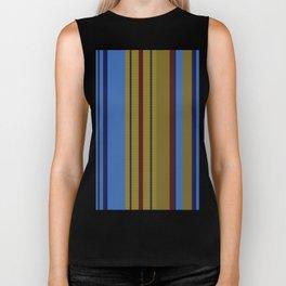 Vertical Stripes # 2 Biker Tank