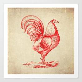 French Country Chicken Art Print